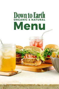 Down to Earth Organic and Natural Deli Menu Cover