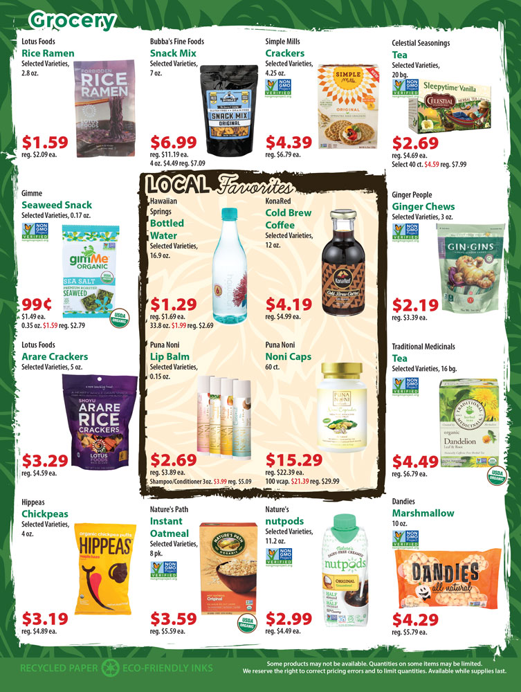Super Saver Flyer Deals | Down to Earth Organic and Natural