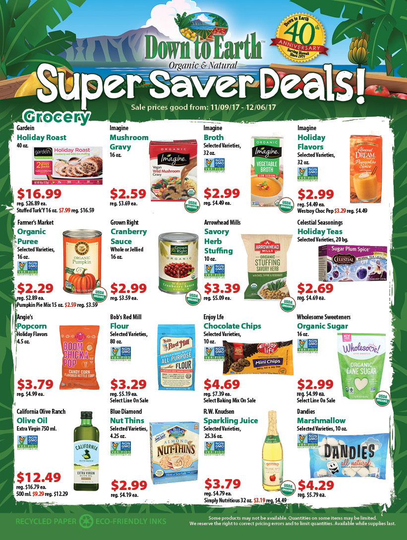 Super Saver Flyer: Page 1