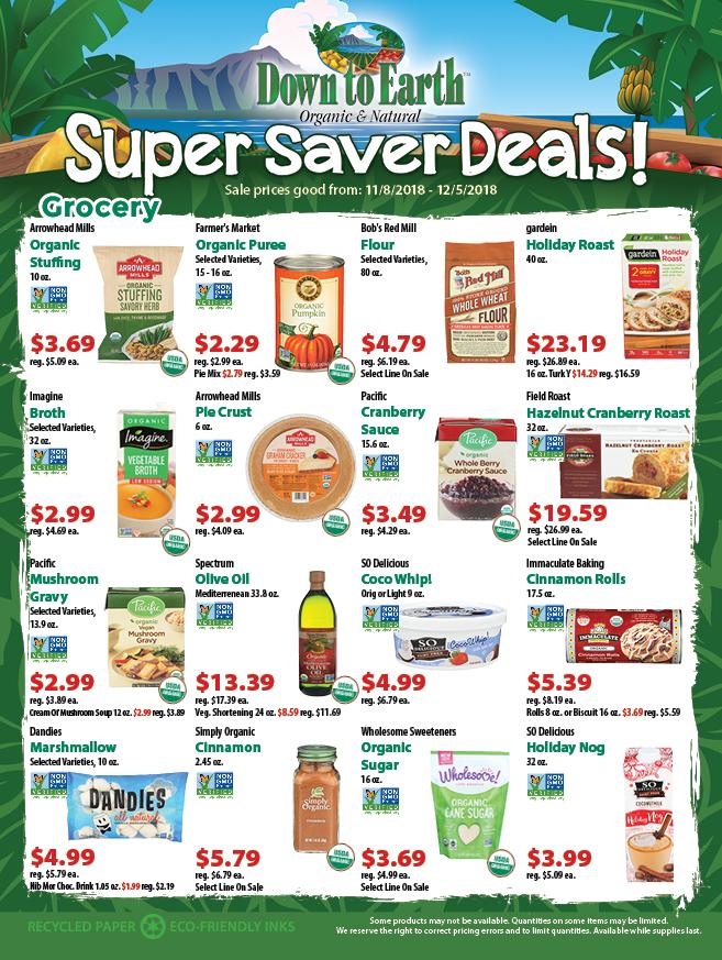 Super Saver Flyer: Page 1