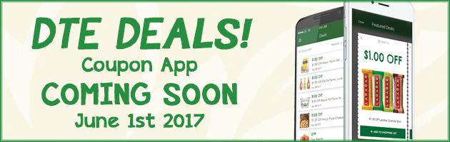DTE DEALS! Coupon App: Coming Soon, June 1st 2017