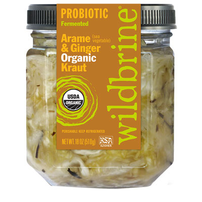 Arame and Ginger Organic Kraut