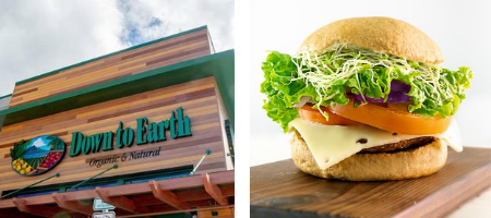 Photos: Down to Earth Pearlridge & Mock Bacon Burger