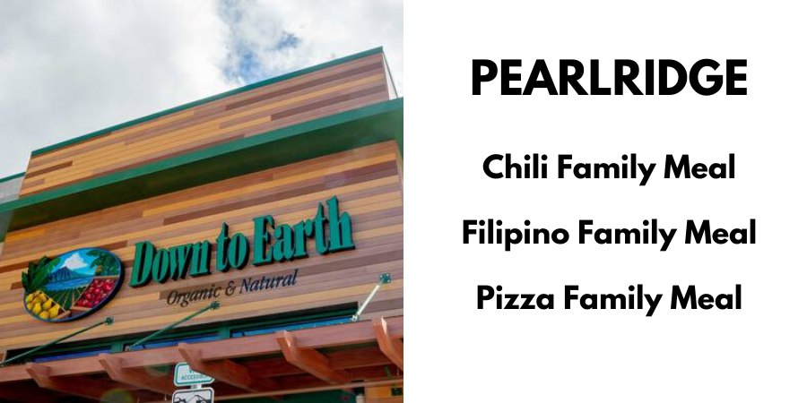 Pearlridge: Chili Family Meal, Filipino Family Meal, Pizza Family Meal