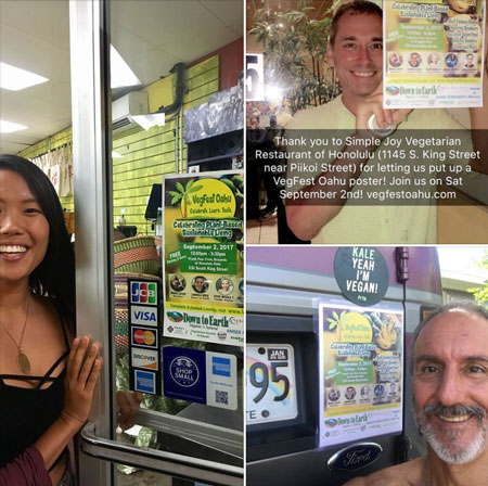 VegFest Posters on Display across Oahu