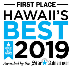 First Place Hawaii's Best 2019. Awarded by the Star Advertiser