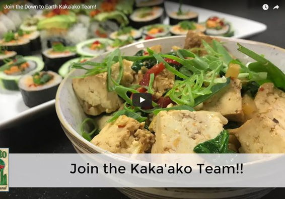 Photo: Tofu Salad with text reading Join the Kaka'ako team!