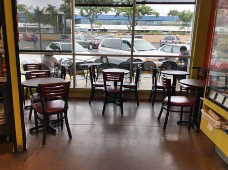 Photo: Deli dining area inside Down to Earth Pearlridge