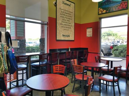 Photo: One of the indoor dining areas at Down to Earth Kapolei.