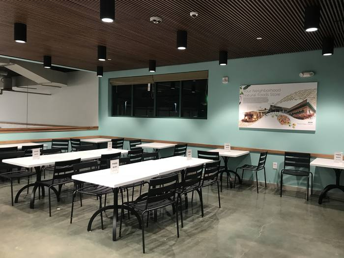Photo: Deli Mezzanine dining area upstairs inside Down to Earth Pearlridge