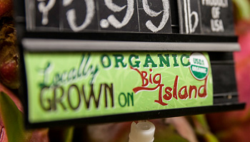 Photo: Sign Reading Locally Grown on the Big Island