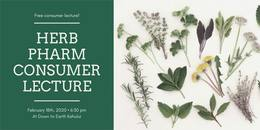 Free Consumer Lecture! Herb Pharm Consumer Lecture