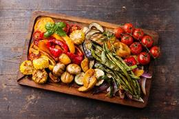 Photo: Roasted Veggie Platter