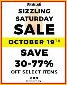 Sizzling Saturday Sale: October 19th. Save 30-77% off select items.
