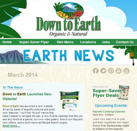 Down to Earth Newsletter