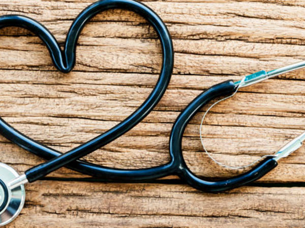 Photo: Stethoscope in the shape of a heart