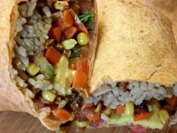 Photo: Avocado and Grilled Veggie Wrap