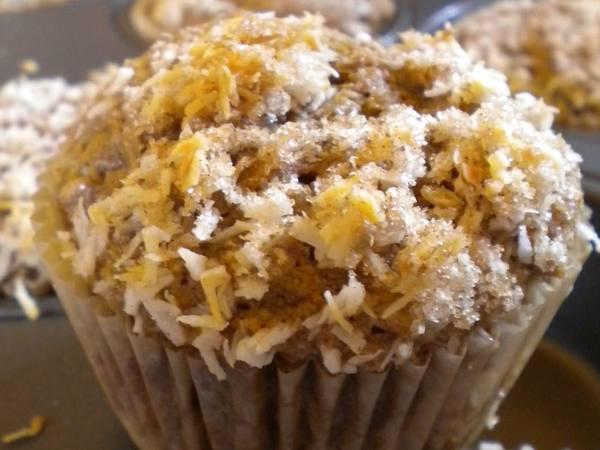 Photo: Banana Coconut Spelt Muffins