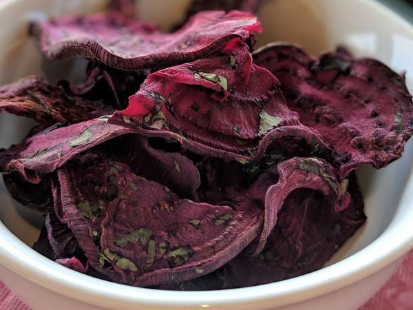 Photo: Cilantro Lime Beet Chips