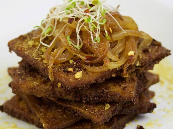 Photo: The Best Baked Tofu w/ Sautéed Onions