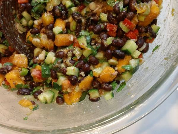 Photo: Black Bean Papaya Salsa