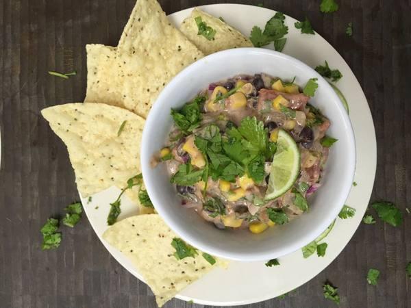Photo: Black Bean Corn Dip and Chips