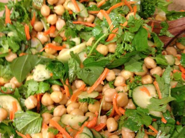 Photo: Chickpea and Herb Salad