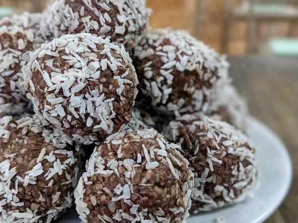 Photo: Chocolate Peppermint Coconut Truffles