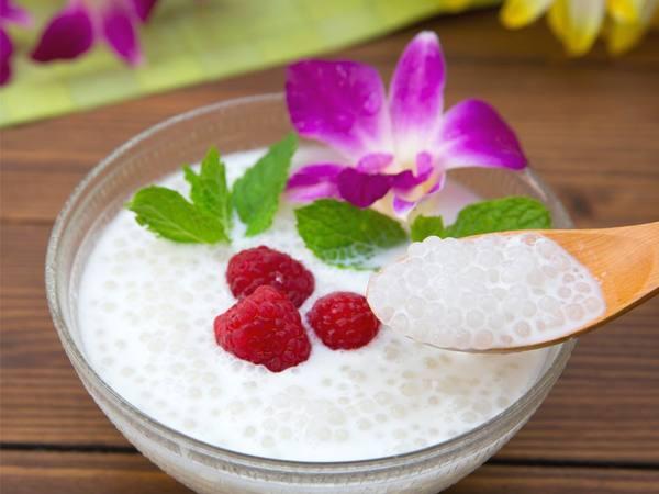 Photo: Thai Coconut Tapioca in a Bowl