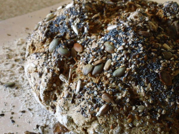 Photo: Rustic Multigrain Soda Bread
