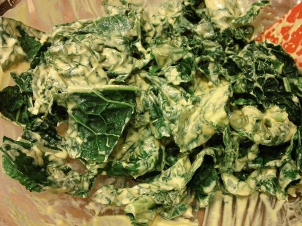 Photo: Kale with Tahini and Yogurt Dressing
