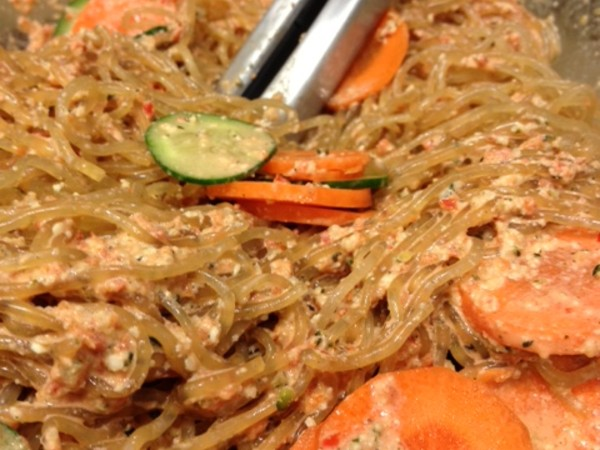 Photo: Kelp Noodles with Red Pepper Sauce