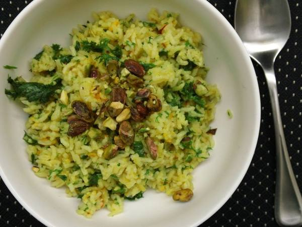 Photo: Bowl of Persian Green Rice