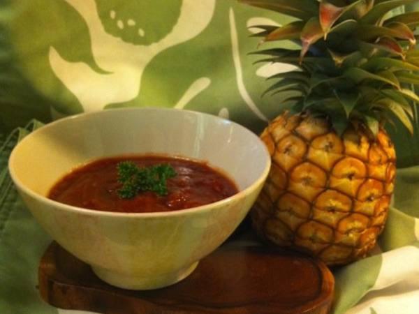 Photo: Pineapple and Honey BBQ Sauce