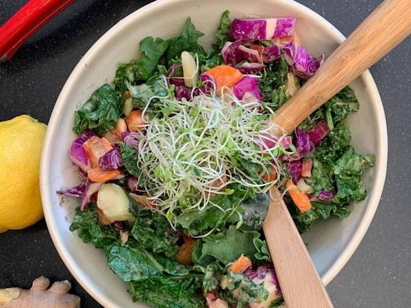 Photo: Rainbow Kale Salad