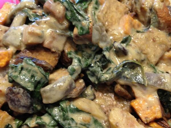 Photo: Roasted Potatoes, Kale and Bacon