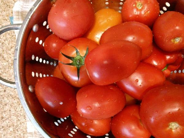 Photo: Tomatoes in a Strainer