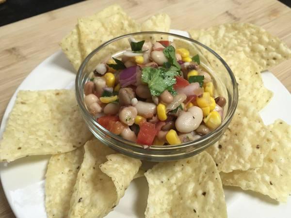 Photo: Texas Caviar and Corn Chips