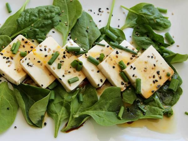 Photo: Tofu Sashimi with Spicy Chili Sauce