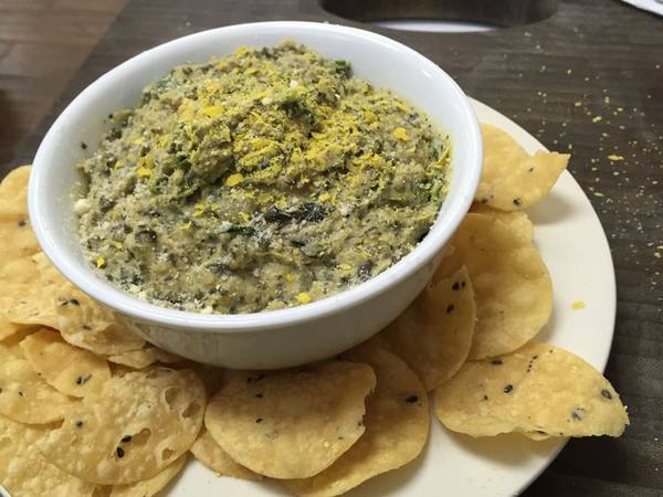 Photo: Vegan Spinach Dip and Chips