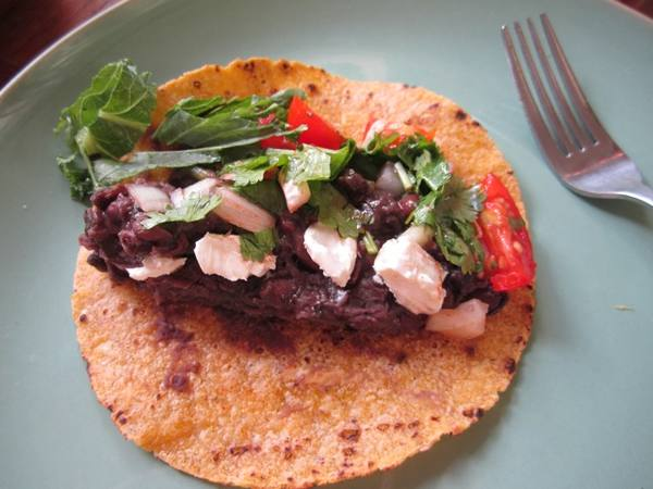 Photo: Black Bean and Feta Taco