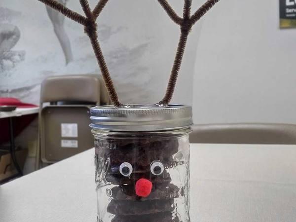 Reindeer Mason Jar