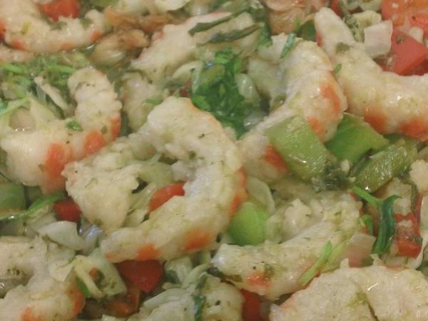 Photo: Vegan Garlic and Spirulina Shrimp