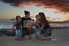 Photo: Family on the Beach in Hawaii