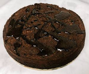 Photo: Round Carob Cake with a Carob Drizzle