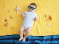 Photo: Baby Wearing Shades at the Beach