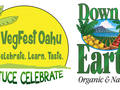 Photo: VegFest Logo and Down to Earth Logo