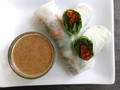 Summer Rolls with Spicy Almond Sauce