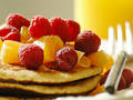 Photo: Multigrain Pancakes with Fruit Topping