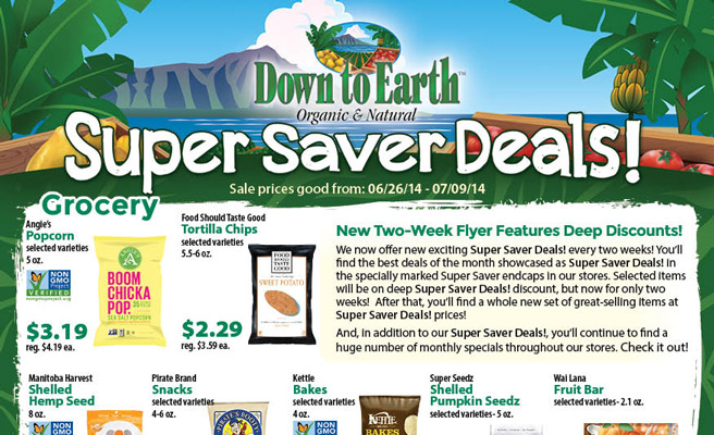 Down to Earth Super Saver Flyer
